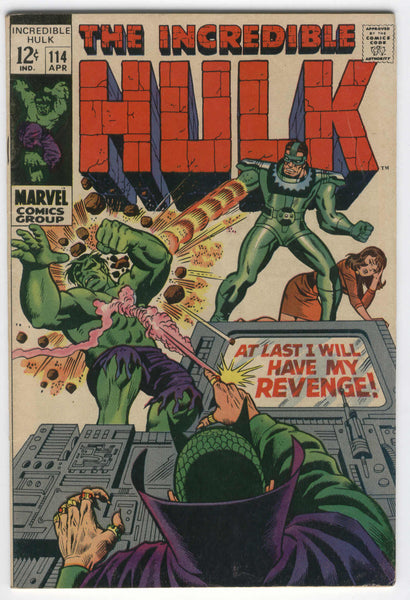 Incredible Hulk #114 I Will Have My Revenge Sandman Mandarin Trimpe art silver age classic FN