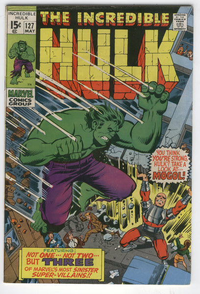 Incredible Hulk #127 Three Of Marvel's Most Sinister Super-Villains! Bronze Age Classic FN