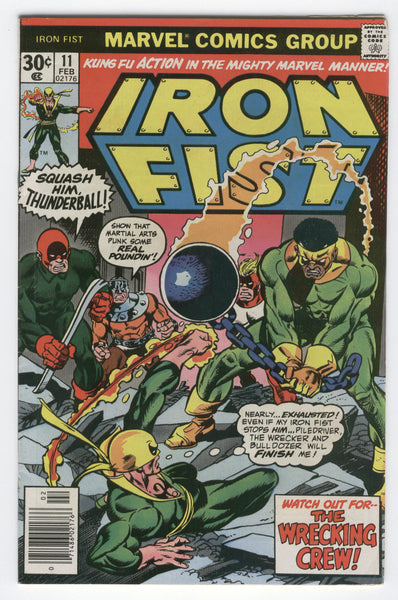Iron Fist #11 Claremont & Byrne The Wrecking Crew Bronze Age Key Fine