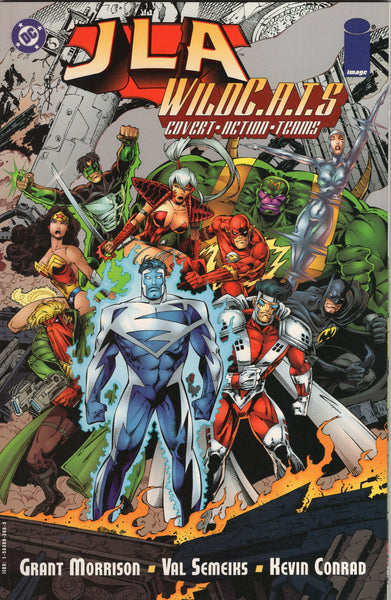 JLA/WildCATS Crime Machine Crossover Graphic Novel Prestige Format NM-
