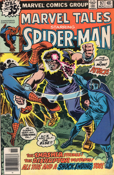 Marvel Tales #97 The Smasher Strikes! Spider-Man Bronze Age Reprint VG