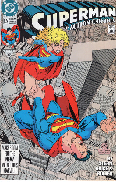 Action Comics #677 Supergirl Packs A Mean Left! VFNM