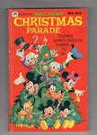 Walt Disney Christmas Parade Golden Press 1977 FN