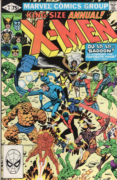 X-Men Annual #5 The Badoon & The Fantastic Four! Brent Anderson Art!! Modern Age Key FN
