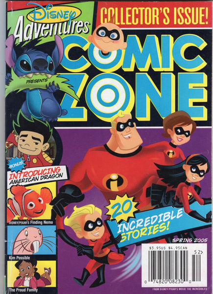 Disney Adventures Comic Zone Spring 2005 Collectors Issue (Digest Size) HTF FN