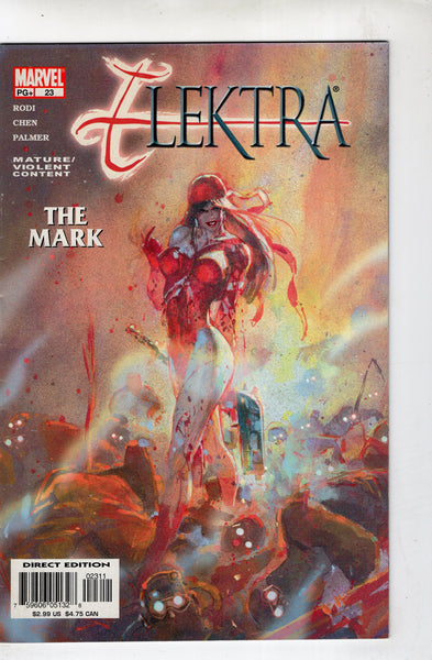 Elektra #23 The Mark! Mature Readers VF-
