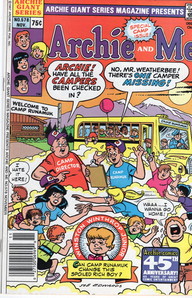 Archie Giant Series Magazine #578 Special Camp Issue! FVF