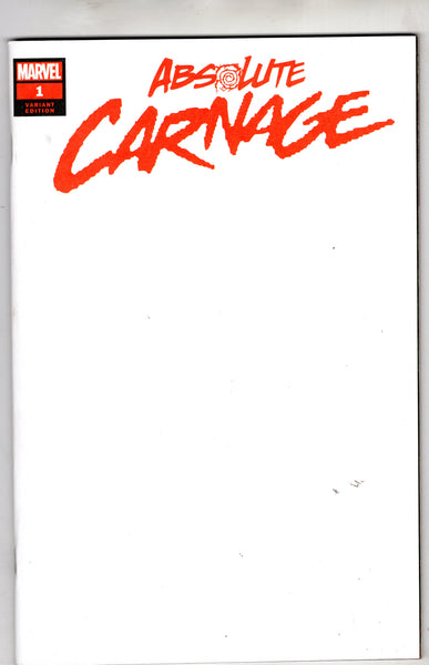 Absolute Carnage #1 Blank Sketch Cover Variant VF