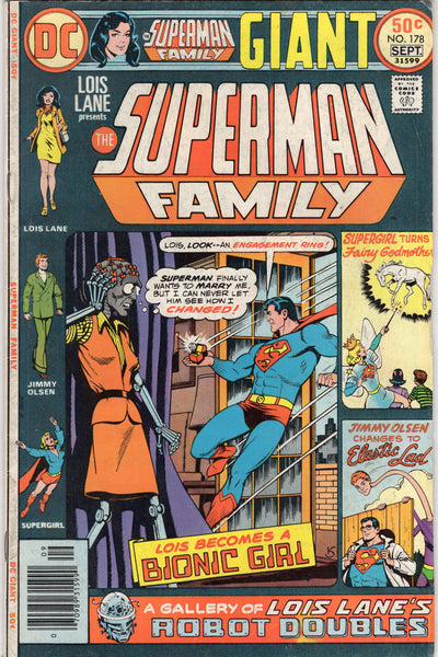 Superman Family #178 Supergirl, Lois, Jimmy (now it's a party!) Bronze Age Giant VG