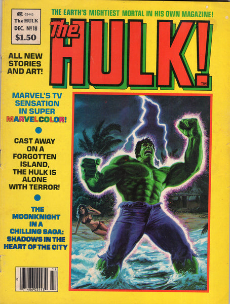 Hulk! Magazine #18 Early Moon Knight (The Hulk Story Is Good Too) Cover Almost Detached Bronze Age Key GD
