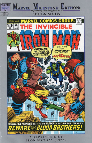Marvel Milestone Edition Iron Man #55 First Appearance Of Thanos VF-