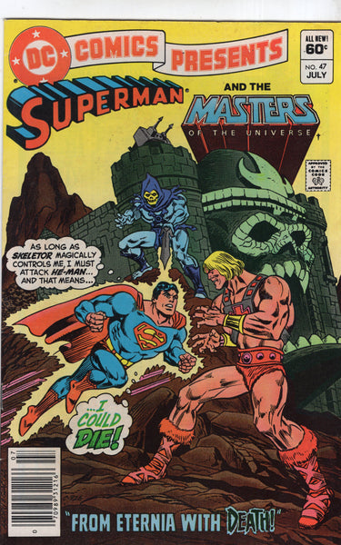 DC Comics Presents #47 Superman And The Masters Of The Universe! News Stand Variant Modern Age Key FN