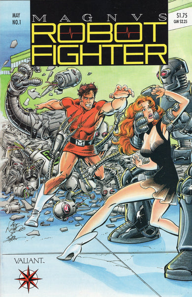 Magnus Robot Fighter #1 Early Valiant w/ Mail Away Coupon and Card Inserts Intact VFNM