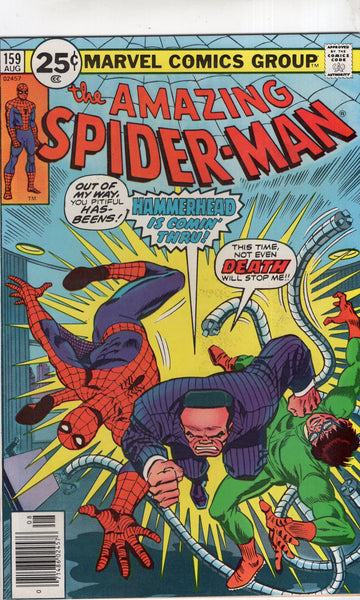 Amazing Spider-Man #159 Hammerhead Is Coming Through! Bronze Age Andru Art Classic FVF