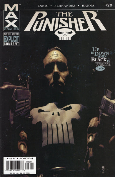 "Punisher #20 ""Up Is Down And Black Is White"" Mature Readers FN"