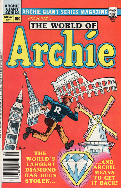 "Archie Giant Series Magazine #543 ""The World Of Archie"" VG"