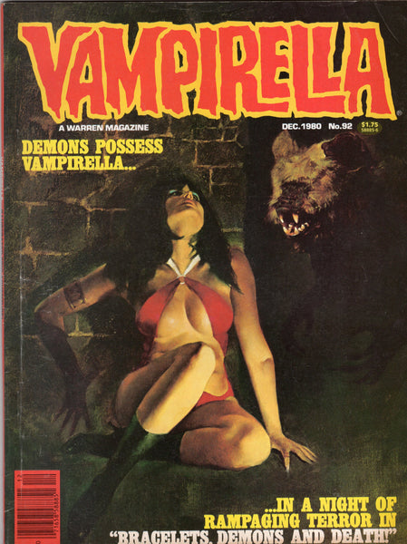 Vampirella #92 Warren Magazine Mature Readers VGFN