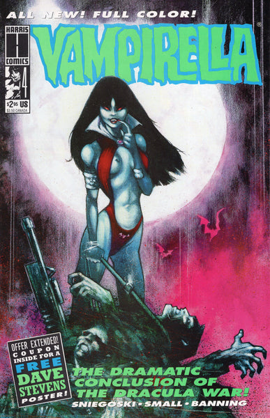 Vampirella #4 Harris Comics Mini-Series w/ Mail-In Certificate VFNM