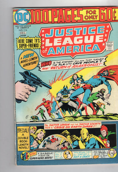 Justice League Of America #114 Bronze Age 100 Page Giant FN