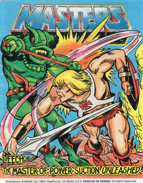 "Masters Of The Universe Mini-Comic 4.7  ""Leech: The Master Of Power Suction!"" Mattel 1984 VGFN"