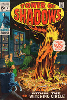 Tower Of Shadows #4 Within The Witching Circle! HTF Early Bronze Age Horror FN