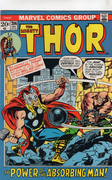 Thor #206 The Absorbing Man! Bronze Age FN