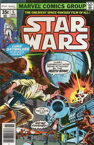 Star Wars #5 Original Bronze Age Series Key 35 Cent Cover! VF