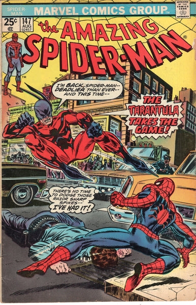 Amazing Spider-Man #147 The Tarantula Takes The Game! Bronze Age w/ MVS GVG
