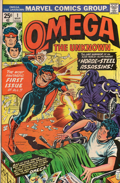 Omega The Unknown #1 Bronze Age Key FVF