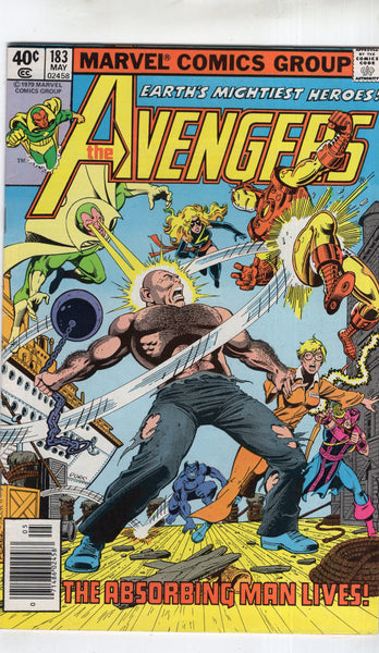 Avengers #183 The Absorbing Man Lives! Bronze Age Byrne! FN