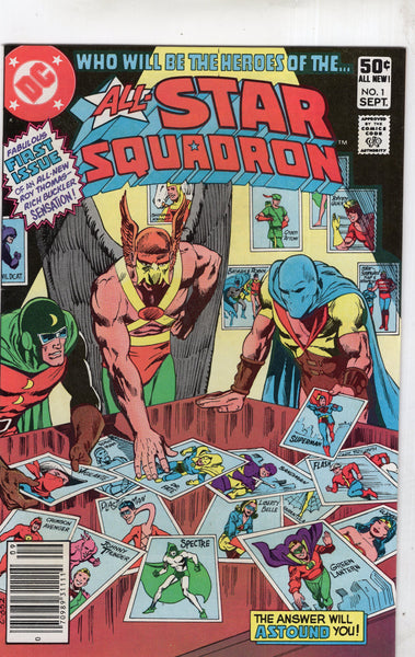 All-Star Squadron #1 News Stand Variant VF