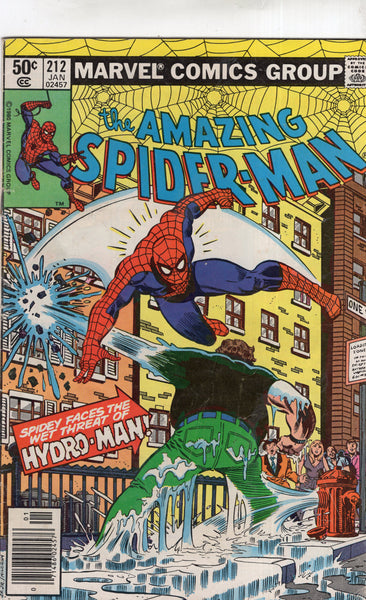 Amazing Spider-Man #212 First Appearance of Hydro-Man! News Stand Variant VG
