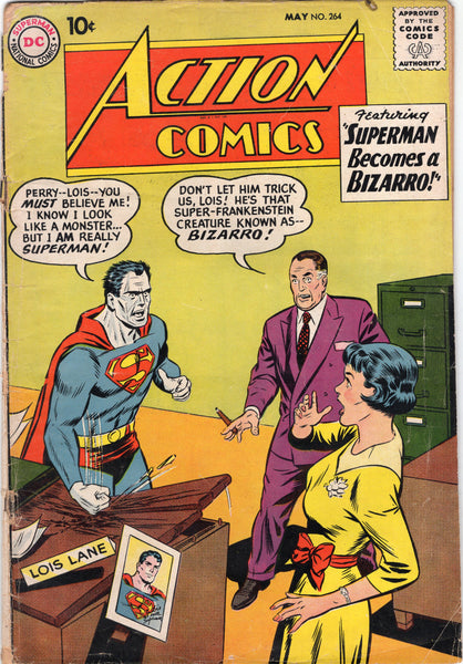 Action Comics #264 Silver Age Early Bizzaro FR