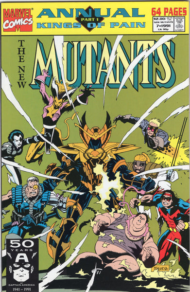 New Mutants Annual #7 Kings Of Pain! VFNM