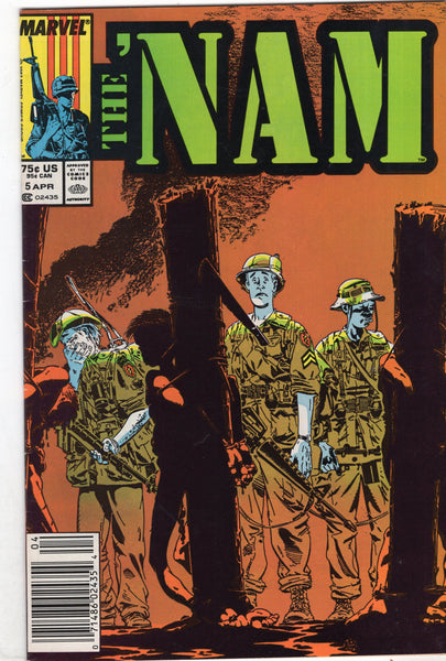 "'Nam #5 ""Humpin' The Boonies"" Golden Art News Stand Variant FN"