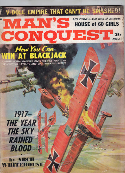 Man's Conquest Magazine August 1961 Mature Readers GVG