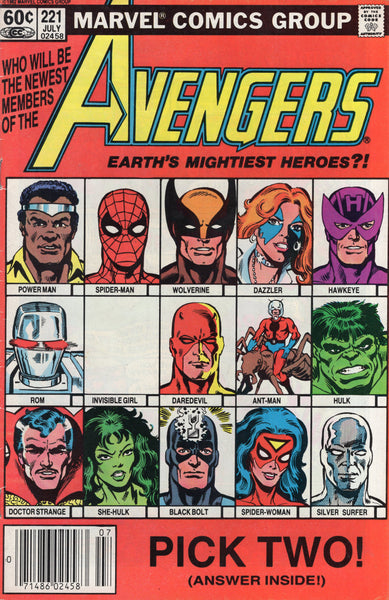 "Avengers #221 ""Who Will Be The Newest Members!"" News Stand Variant VG"