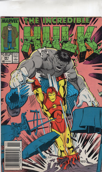 Incredible hulk #361 Iron Man Crashed The Party! News Stand Variant VG