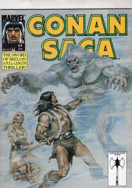Conan Saga Magazine #61 The Sword Of Skelos (great story!) FN