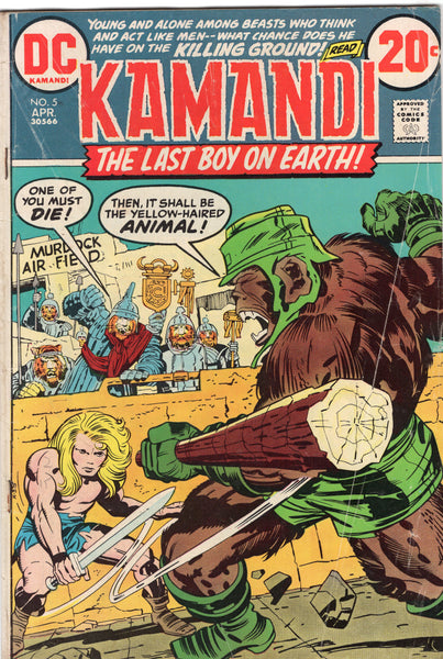 Kamandi #5 The One-Armed Bandit! Bronze Age Kirby Classic VG