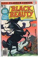 Marvel Classics Comics #5 Black Beauty Adaptation Bronz Age FN