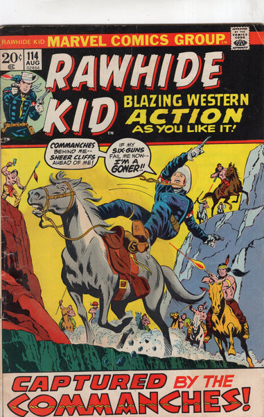 "Rawhide Kid #114 ""Captured By The Commanchees!"" Bronze Age VG"