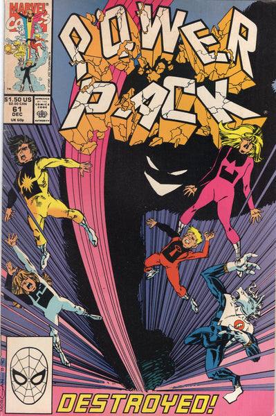 Power Pack #61 Destroyed! HTF Later Issue VG+