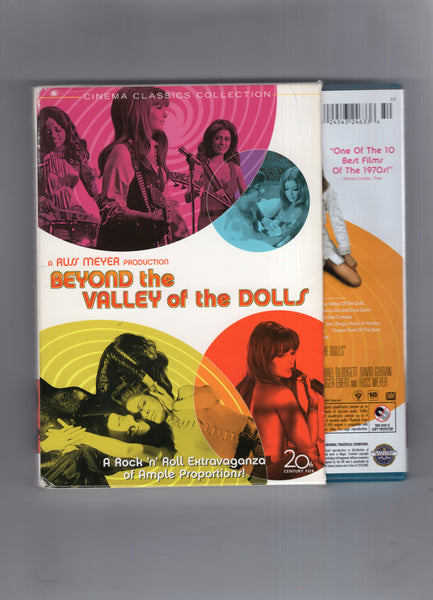 Beyond The Valley Of The Dolls DVD 2 Disc Set 20th Century Fox Pre-Viewed w/ Promo Mini Lobby Cards Mature Viewers VF