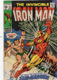 Iron Man #25 Against The Seething Sub-Mariner Bronze Age Classlc VG+