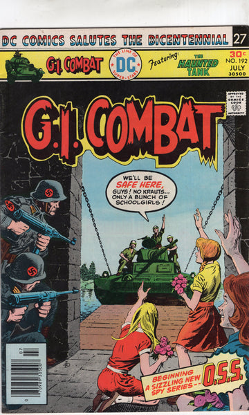 G.I. Combat #192 The Haunted Tank! Bronze Age VG