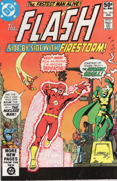 Flash #293 Side-By-Side With Firestorm! The Atomic Skull!! Perez Cover!!! FN
