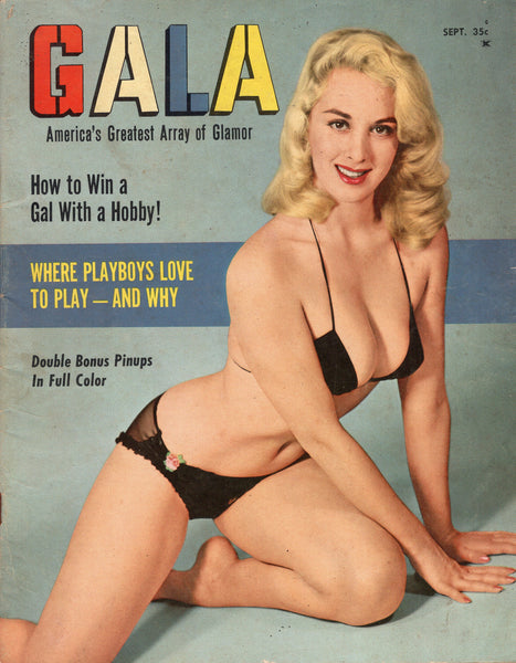 Gala Magazine America's Greatest Array Of Glamour! Vintage Girlie Mag from the 1950s VGFN