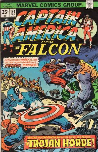 Captain America #194 Jack Kirby Madbomb Bronze Age Classic VGFN