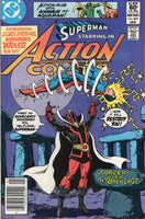 Action  Comics #527 First Lord Satanis! Perez Art!! News Stand Variant!!! FN